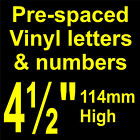 "QTY of: 2 x 4½"" 114mm HIGH STICK-ON  SELF ADHESIVE VINYL LETTERS & NUMBERS"