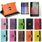 360 Degree Rotating PU Leather Smart Cover Case for Google Nexus 7 Asus 1st Gen