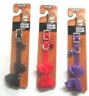 "NWT Petmate Elastic Safety  Cat Collar Adjustable Nylon 3/8"" x  8-10"" Neck"