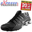 Nike Mens Shox NZ EU Retro Running Shoes Trainers Black AUTHENTIC