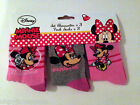 Girls Disney Minnie Mouse Socks 3 Pair packs NEW Sizes 6-8 1/2 - 4