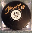 James Neal Signed Pittsbugh Penguins Puck Autograph Signed In Gold Small Logo
