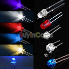 3MM 5MM 8MM 2 Pin LED Lamp Bead Emitter Diode Blue Red White Light Bulb Pack