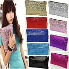 HOT Shiny Sequins Wallet Girls Evening Party Clutch Bag Glitter Sparkling LM