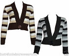 STRIPE SHRUG BOLERO CARDIGAN