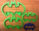 Batman Logo Cookie Cutter - Choice of Sizes (3D Printed Plastic)