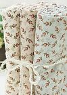 Flowers 100% Cotton Fabric / All sizes / Quilting fabric off cuts (ff027)