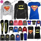 Womens Ladies Cap Long Sleeves Superman Batman T Shirt Sweatshirt Hoodies Tops