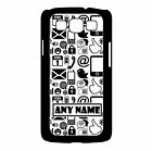 PERSONALISED INTERNET PHONE/PC SYMBOLS SAMSUNG GALAXY S3 HARD PLASTIC CASE/COVER