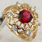 Size 6 7 8 9 Classical Hot Nice Ruby Red Jewelry Yellow Gold Filled Ring R1916