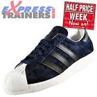 Adidas Originals Mens Superstar 80s Classic Retro Trainers Rare Navy *AUTHENTIC*