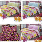 Frangipani Floral Girls Teenagers Quilt Cover and Pillowcase Set  - SINGLE