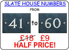 Slate House Sign Numbers 41 to 60