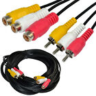 6/10/15/35ft 3 RCA male Jack to female Audio Composite extension Video Cable DVD