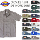 Dickies Work Shirts Men Short Sleeve Button Shirt 1574 S - 6XL Solid Color 1ST Q