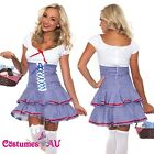 Ladies Wizard of OZ Dorothy Halloween Fancy Dress Up Costume Outfit