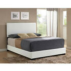 Upholstered Bed Frame w Headboard Faux Leather Full Queen King Size Sizes NEW