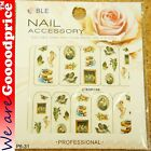Color Printing Water Tranfer Nail Art Stickers Gift Classic Painting Style 6-31