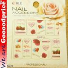 Color Printing Water Tranfer Nail Art Stickers Gift Valentine Heart Style 6-28