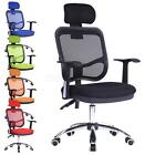 New Adjustable Chrome Executive Office Computer Desk Chair Mesh Seat Fabric 9010