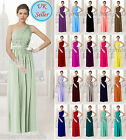 One shoulder Chiffon Evening Wedding Bridesmaid Prom  Party Dress(JS36)