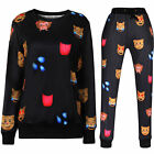 Men Women EMOJI Funny Autumn Winter Printed Thicken 3D Jogger Pants Sweatshirt