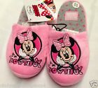 New Disney Minnie Mouse girls pink slip on slippers