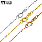TTstyle 0.8mm Thin Gold Filled Chain Necklace Gold/Rose Gold 45cm length