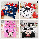 Mickey Mouse 100% Cotton Double Queen King Bed Quilt/Doona Cover Set New Linen
