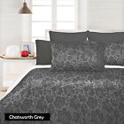 Jacquard Quilt / Duvet Cover + Pillowcase(s) Set SINGLE DOUBLE QUEEN KING
