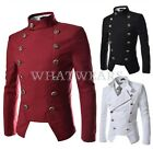 Stylish Mens Casual Double-Breasted Design Slim Fit Jacket Blazer Coat Suit WFR