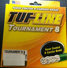 TUF LINE TOURNAMENT 8 -300 yds NANO COATED 8 CARRIER BRAID -BRAIDED FISHING LINE