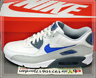 Nike Air Max 90 LTR Leather White Blue Grey 652980-104 US 8~12 Casual NSW 1 95