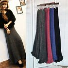 Hot Sale! Vintage Women Warm Knitting Ball Gown Maxi Skirts Casual Long Dress