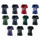 NFL Womens Tri-Blend Reverse Logo V-Neck T-Shirt