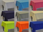 "Rectangle Fabric Narrow Tablecloth 50"" wide (made from polyester not cotton)"