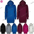 Womens Ladies Plain Chunky Knitted Oversize Baggy Hood Hooded Tunic Jumper Dress