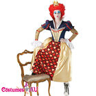 Licensed Red Queen Of Hearts Crown Wig Alice in Wonderland Costume Fancy Dress