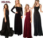 New Sexy Backless Women Burned Velvet Formal Party Evening Long Dress Skirt