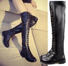 Fashion-Thigh-High Boots patent leather strappy casual women boots