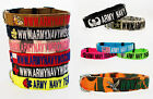 Military Personalized Dog Collars & Leashes with LOGO