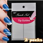 Nail art French Tips Adhesive Guard Sticky DIY Guide Sticker Straight line N18