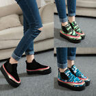 High-top Lady Platform Loafer Camouflage Elastic Ankle Boot Casual Shoes Slip-on