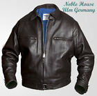 Mens Luftwaffe leather FLYING JACKET brown horsehide flight BF-109 Pilots jacket