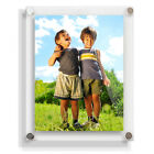 """8""""x10"""" CLEAR, WHITE or BLACK Acrylic Photo Frame, Wall Mounted"""