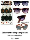 NEW Jetsetter Foldable Sunglasses w/Case - 100% UVA/UVB Protection