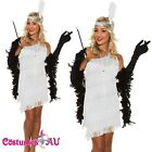 1920s 20s White Flapper Charleston Gatsby Fancy Dress Costume Necklace Boa