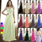 Chiffon Bridesmaid Dress Long Prom Party Wedding Gowns Evening Formal Size 6-26