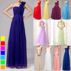 Long Bridesmaid Dress One-Shoulder Prom Party Evening Formal Wedding Gowns 6-26