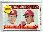 1969 Topps ROOKIE Baseball Card Mike Torres St Louis Cardinls Near Mint # 136